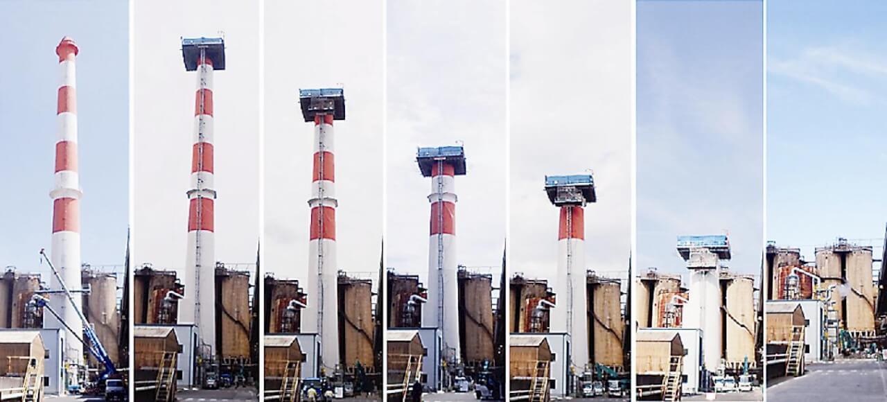 日本が世界に誇るべき解体技術! ~煙突解体工法~