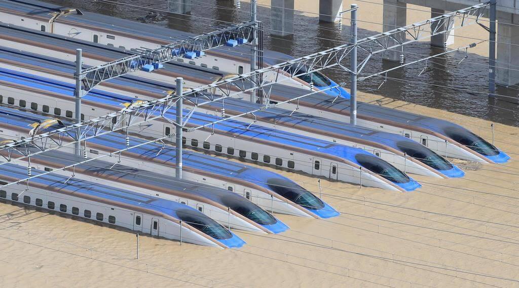 台風19号の爪後!北陸新幹線の浸水車両 解体作業ついに始まる